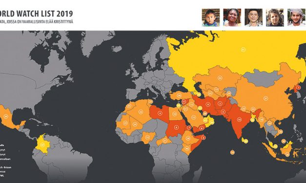 World Watch List 2019: Joka 9. kristitty kokee vakavaa vainoa