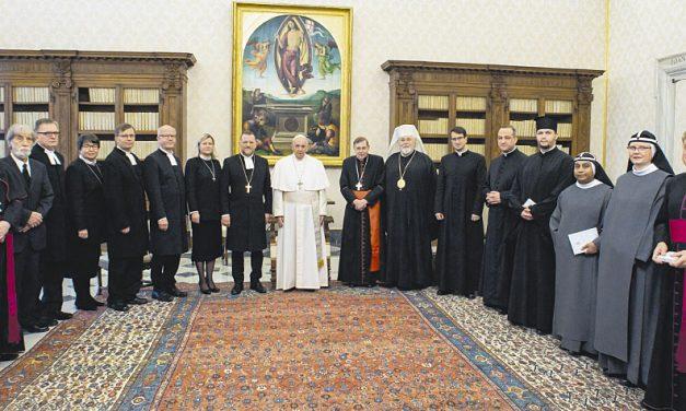 Paavi Franciscuksen puhe suomalaiselle ekumeeniselle valtuuskunnalle