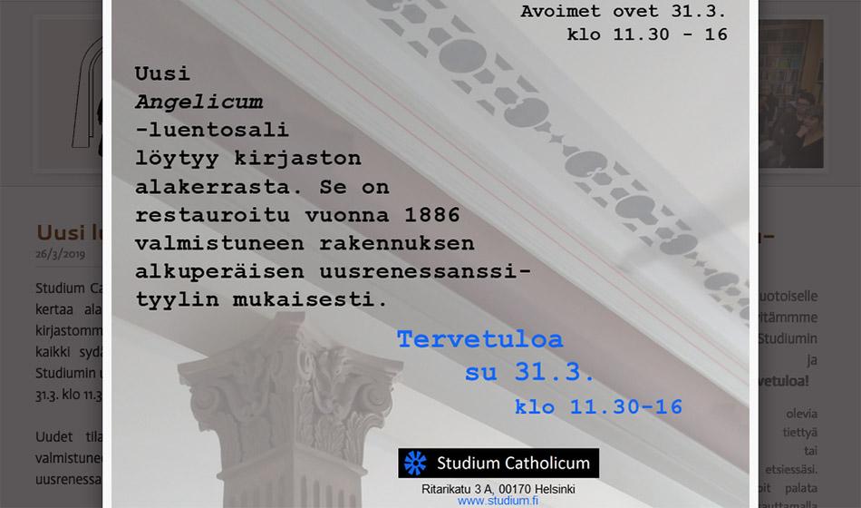 Studium Catholicumin uusi kerros avautuu