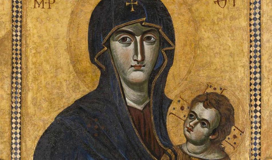 Valamossa ikoninäyttely jakamattoman kirkon pyhistä