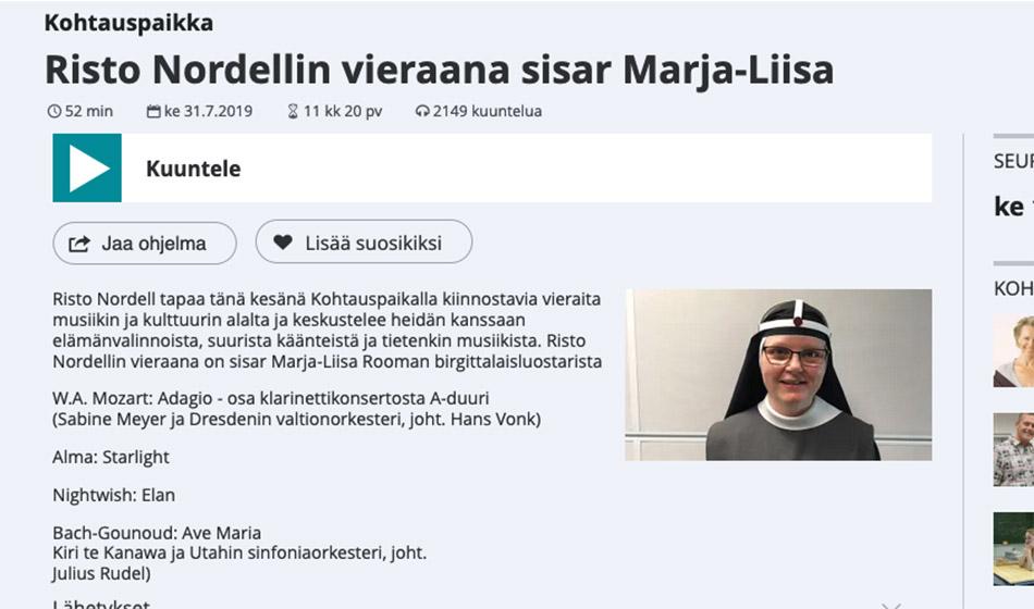 Risto Nordellin vieraana sisar Marja-Liisa