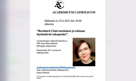 Academicum Catholicum – vuosikokous ja etäluento