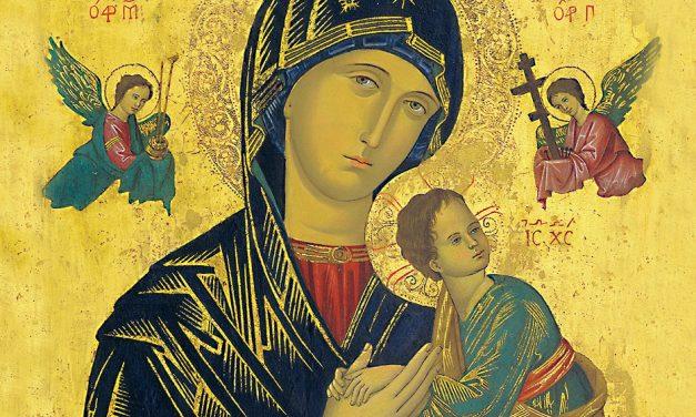 Pyhä Maria, hyvän avun äiti, rukoile puolestamme