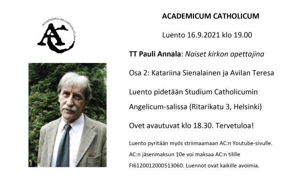 Academicum Catholicum: Naiset kirkon opettajina